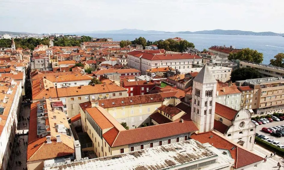 Things to do in Zadar - shows old town streets from above