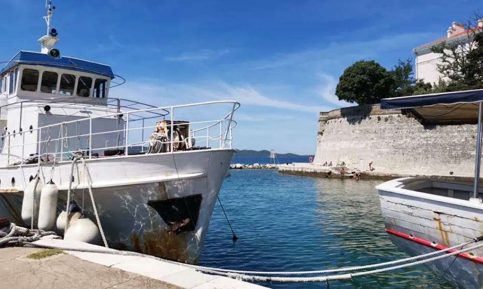 Best things to do in Zadar - Shows people swimming by the marina