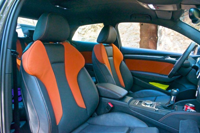 Sportsitze in Audi design selection capriorange