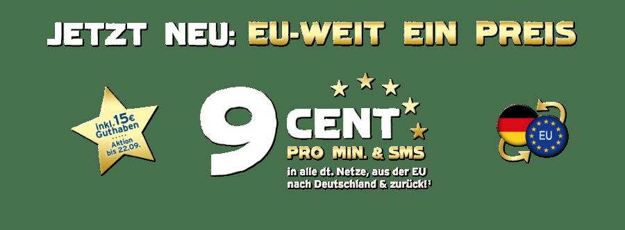 Blau.de EU 9 cent Tarif