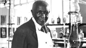George Washington Carver at work.