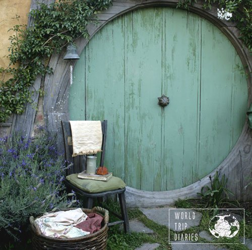 Hobbit house door, Hobbiton, NZ