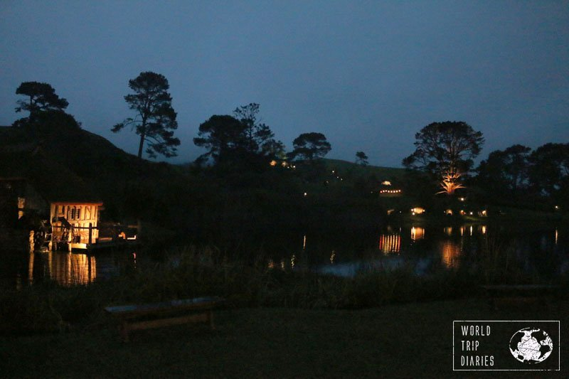 Hobbiton at dusk is just amazing.