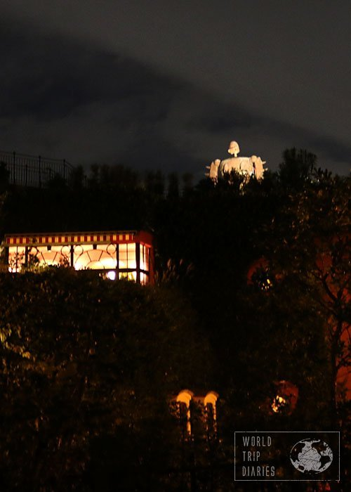 ghibli museum at night