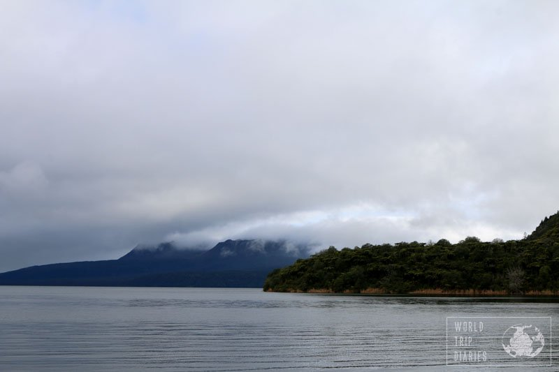 mount and lake tarawera
