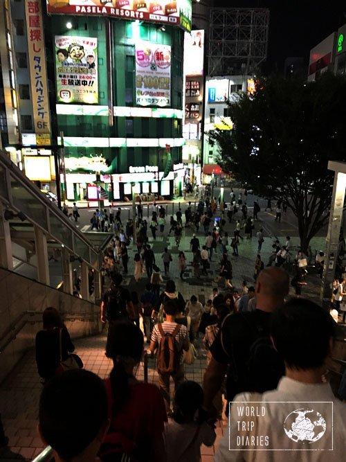 Exit from Shinjuku