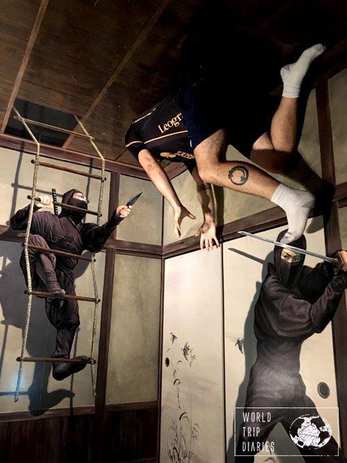 ninja room, trick art museum