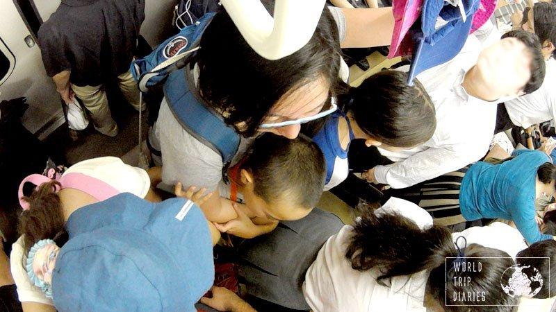 inside Japan train