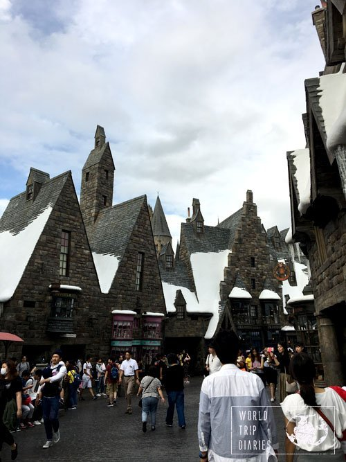 There's snow even during summer months in Hogsmead.
