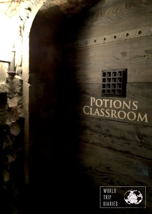 Potions Classroom at the Dungeons. We could hear noises from inside