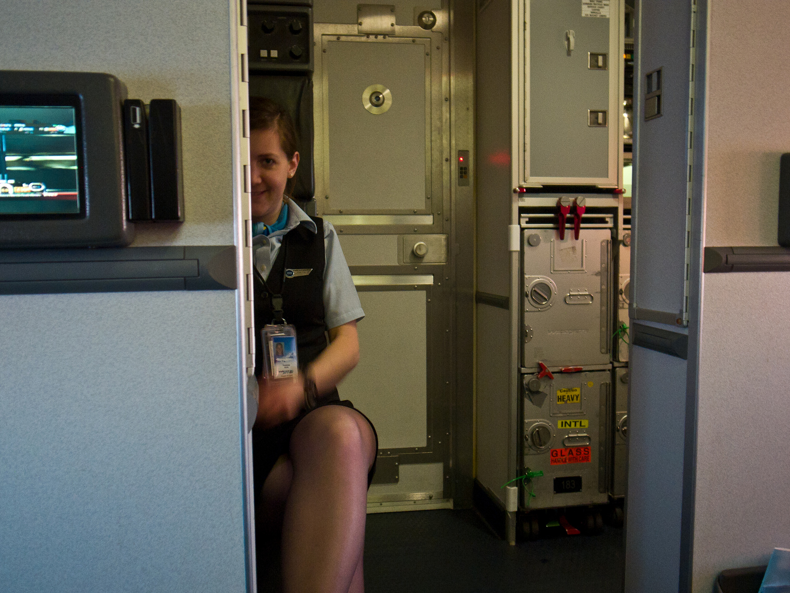 airline stewardess flashing  Cumception