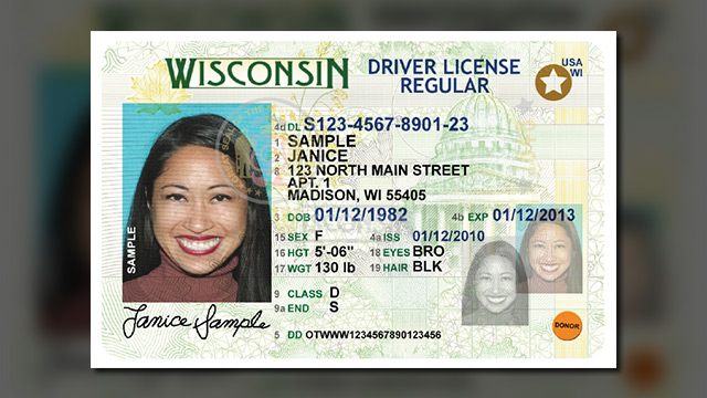 over 18 drivers license wisconsin