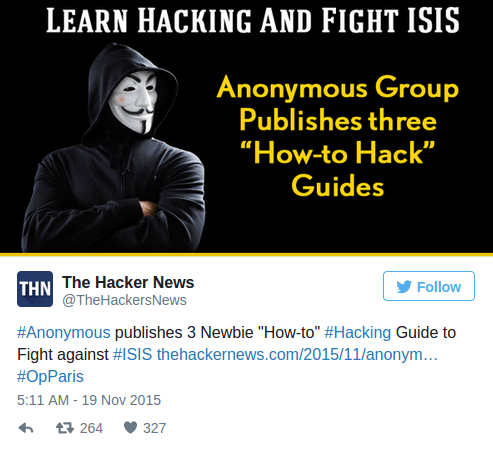Youre a virus were the cure Anonymous takes down 20 000 ISIS Twitter accounts  RT News