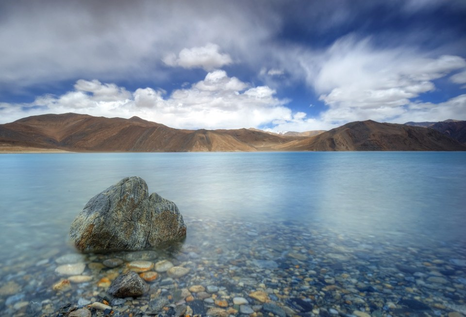 Pangong Lake in Ladakh, India