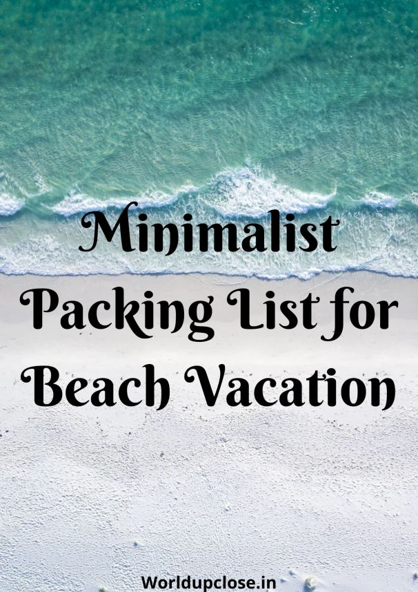 minimalist packing list for beach vacation
