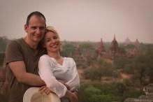 Bagan temples view
