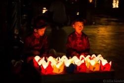 Lantern vendors in Hoi An