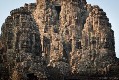 Bayon temple in early sunshine