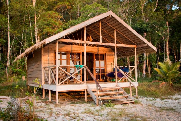 Bungalows of our favorite accomodation Koh Samloem: Saracen Bay Resort