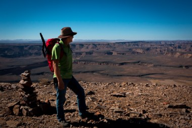 Fish River Canyon view with Werner