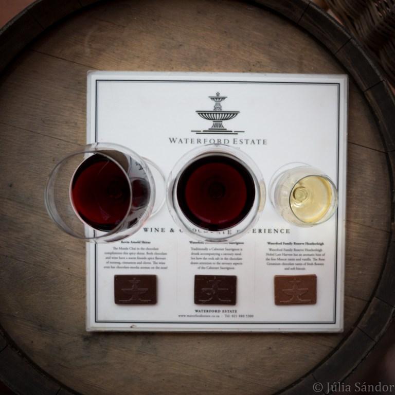 Wine and chocolate tasting in Stellenbosch