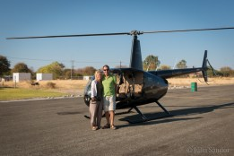 Our birdsview vehicle in Maun