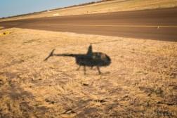 Botswana helicopter flight
