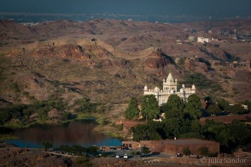 View to Jaswant Thada from the Mehrangarh Fortress in Jodhpur