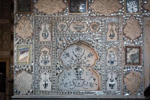Interior artwork inside of Amber Fort