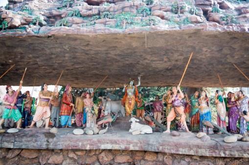 Colorful decoration in Prem Mandir