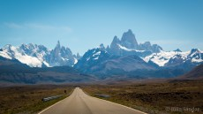 Stunning view of the peaks of Fitz Roy