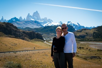 El Chaltén is situated like a birds nest under Fitz Roy
