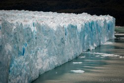 Several kilometers wide ice front of the Perito Moreno glacier