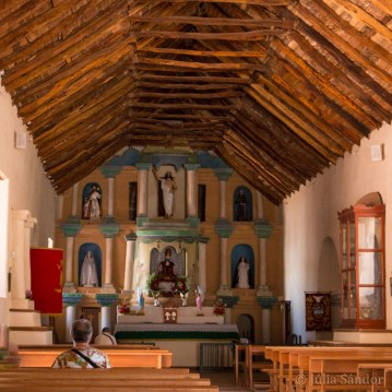 The well-known church in San Pedro de Atacama