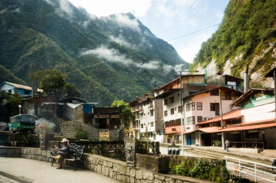 The little village of Aguas Calientes is the base point to isit the Machu Picchu