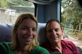 Going back by bus to Aguas Calientes