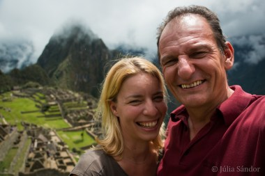 In real good mood at the Machu Picchu