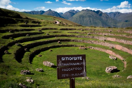 Sacred Valley Peru: view of Moray
