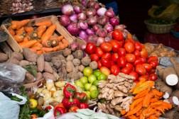 Veggie market in Ollantaytambo