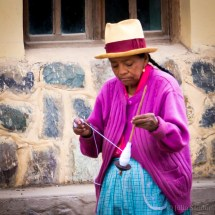 In the Sacred valley many ladies even spindle wool while walking on the streets.