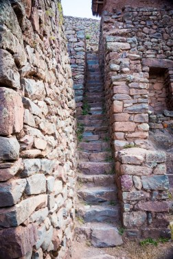 Narrow staircases in Pisac