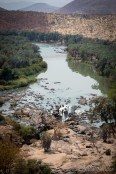 Bird view of the Epupa falls