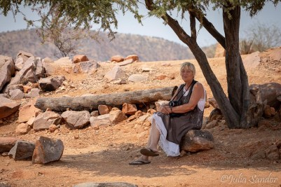 Eva at the Kunene river