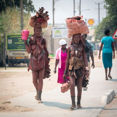 Modernity meets traditional life in Opuwo