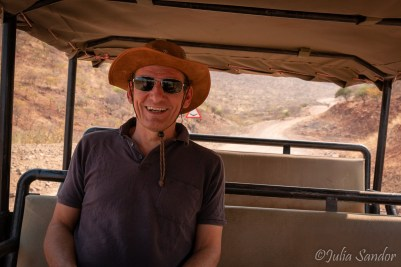 On the way to the Himba village