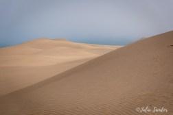 Namib desert meets Atlantic ocean at Sandwich Harbour