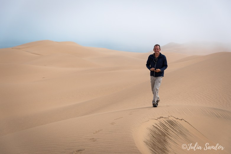 Walking on the dunes