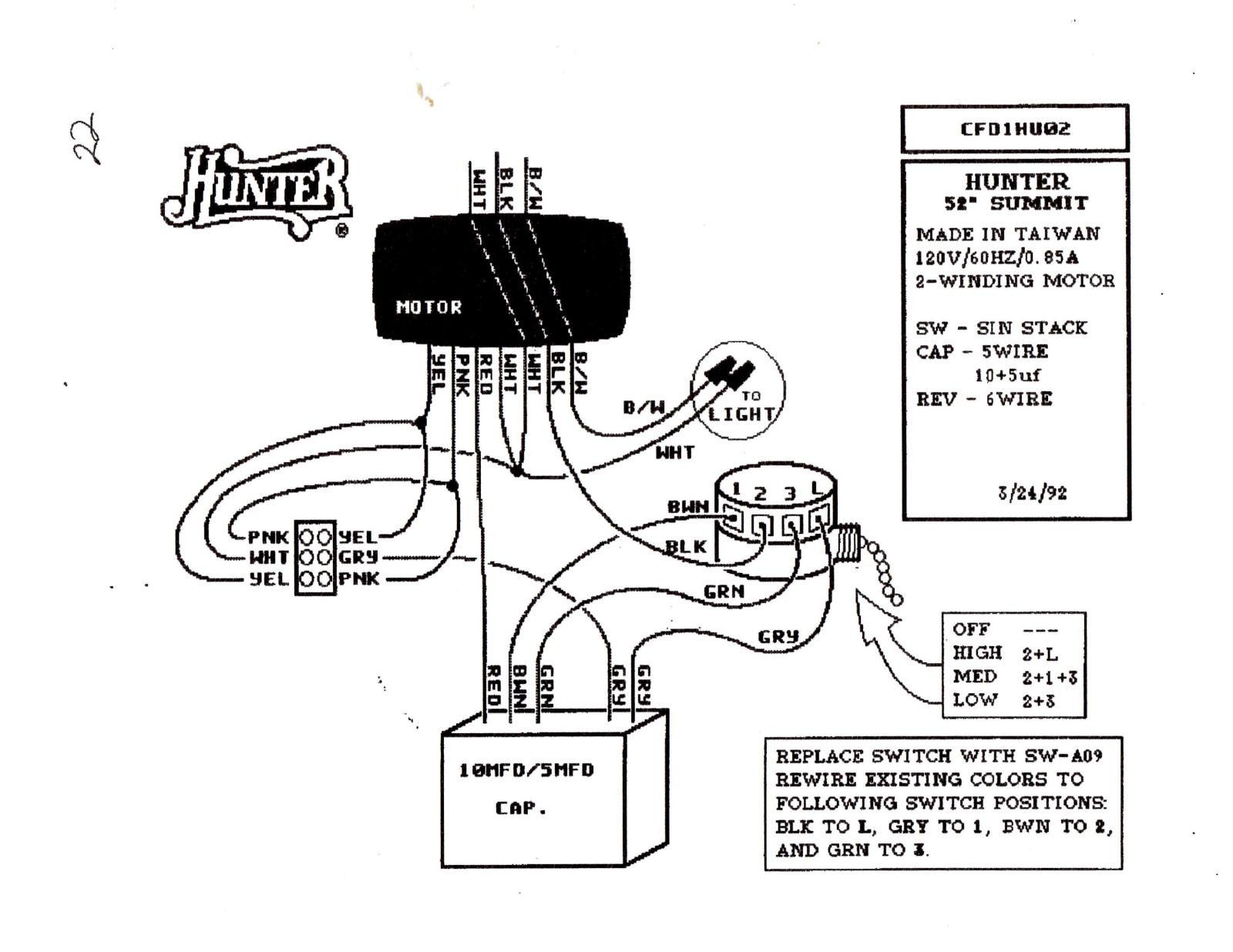 3 Speed 4 Wire Fan Switch Wiring Diagram Sample