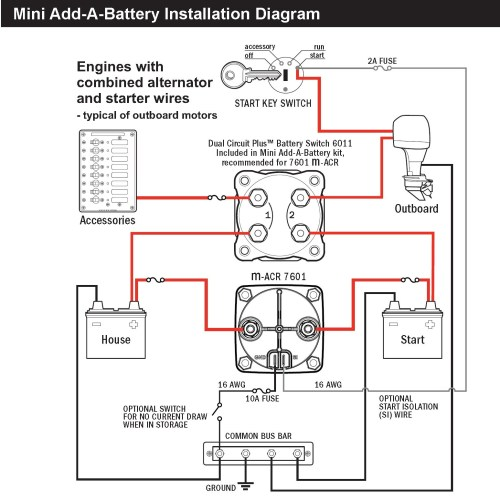 small resolution of automatic charging relay wiring diagram sure power battery isolator wiring diagram awesome blue sea 7601