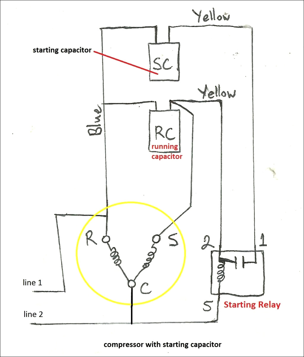 run capacitor wiring motor